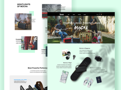 Mocha Page for Divoom Website design