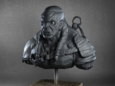 Statue Clay Orc