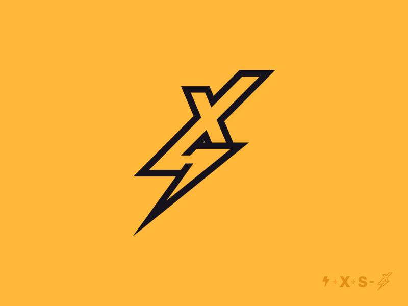 FLASH+X+S Logo concept vector letter brand negative space abstract branding mark design icon logo
