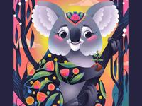 'Forest Spirit' for Procreate Bush Fire Appeal kidlit childrens book illustration childrens illustration illustrator procreate illustration procreate koala