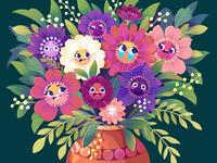 Reading the News in 2020 Like... australia perth illustrator flower arrangement bunch of flowers covid19 coronavirus 2020 flower illustration kidlit procreate illustration