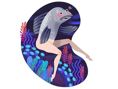 Reverse Mermaid illustrator mermaid illustration reverse mermaid illustration mermaid