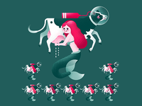 Eight Mermaids Milking