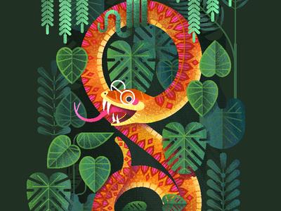 Jungle Snake vector illustration kidlit kidlitart illustrator illustration
