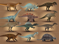 Zoorasic Park Illustrative Icons