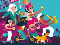 Vic Park Summer Street Party Illustration