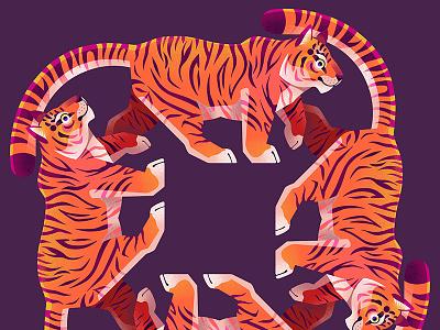Tiger Tiger Tiger Tiger procreate tiger illustration childrens book illustration airbrush illustrator childrens illustration illustration