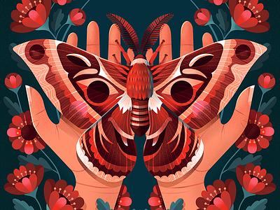 Moth moth art moth airbrush procreate illustration childrens book illustration kidlit childrens illustration illustrator