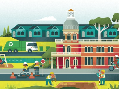 [Section of] City of Swan Budget Newsletter 2019 Illustration vector art procreate adobe illustrator vector illustration illustrator illustration