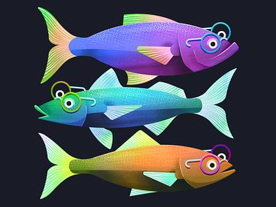 Fish fish fish illustration illustrator procreate illustration