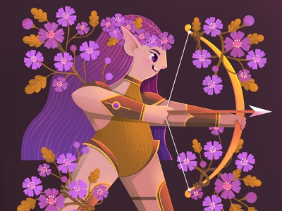 Elf Warrior characterdesign character design challenge elf warrior kidlit childrens book illustration illustrator illustration