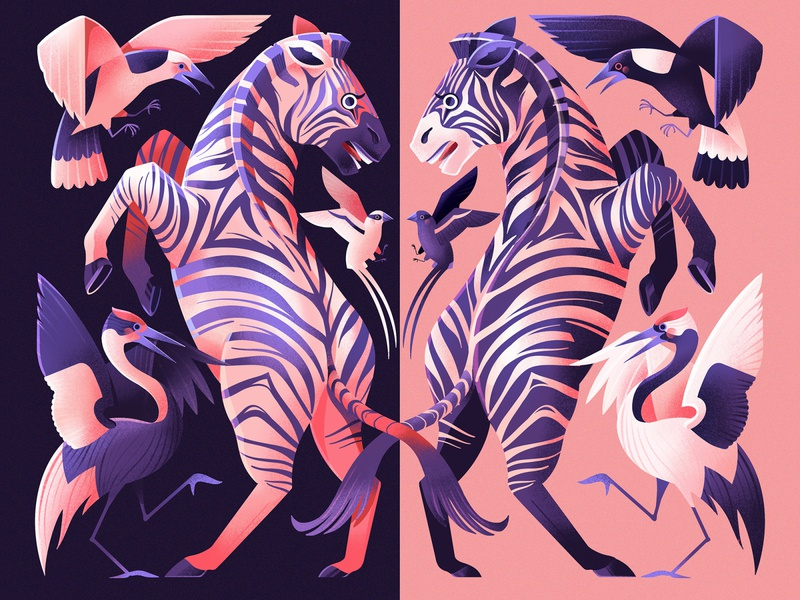 'Contrast' - Procreate Art Prize Entry contrast timelapse zebra procreate airbrush illustrator illustration
