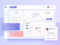 Healthcare - appointment panel medical map calendar 10clouds interface ui ux dashboard account healthcare health app