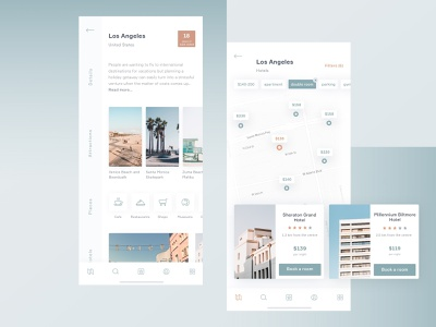 Hotel Booking App - Travel guide invitaion invite map destination hotel design ux ui interface 10clouds app booking travel