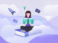 UX case study: 10C Books - Blogpost Illustration