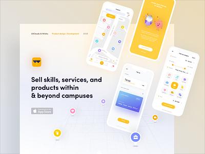 Wishu App case study presentation behance interaction application map wallet design mobile illustration interface 10clouds ux ui app