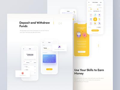 Wishu app - Behance presentation behance case study wallet aapplication interaction presentation app mobile illustration design 10clouds interface ux ui