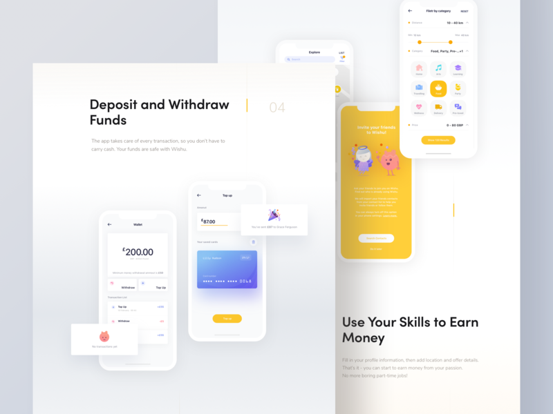 Wishu app - Behance presentation