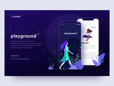 Playground by 10Clouds animation interaction free github download mobile illustration design app 10clouds interface ux ui