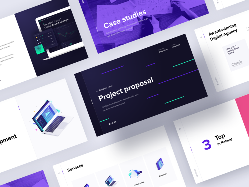 10C Presentation Template slideshow slides mobile template design branding interface illustration presentation template template presentation ux ui 10clouds
