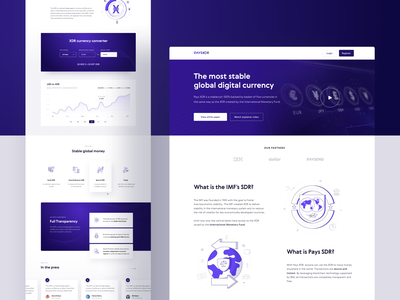 PaysXDR - landing page landing page blockchain vector design website cryptocurrency crypto illustration landing interface 10clouds ux ui