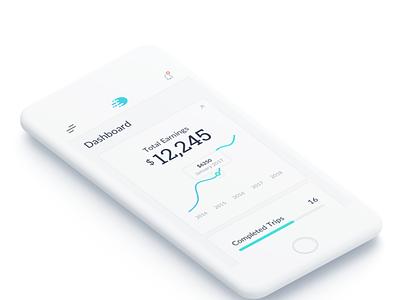 Delivery App minimalist clean ios app delivery app