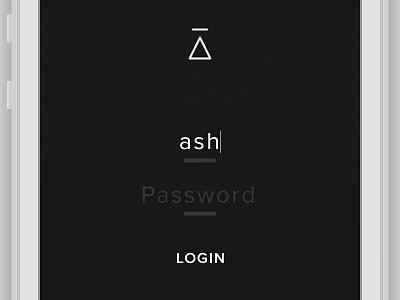 Minimal Login minimal login portfolio clean sharp flat branding ui ux iphone