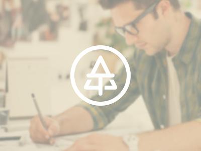 Branding minimal logo branding clean portfolio a t minimalism monogram