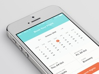 Flight Booking App Date Picker