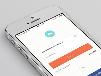 Sign In login sign in register minimal clean app iphone simple