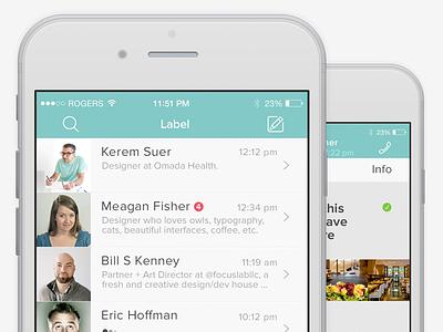 WhatsApp Re-Design for iOS 8 ios 8 whatsapp flat minimal clean chat ui ux iphone