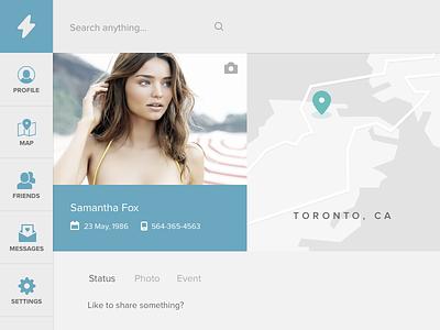 Social Media Concept modern flat timeline chat dashboard concept clean minimal friends social media