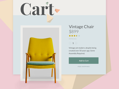 Add to cart concept future latest vintage modern colors ecommerce product minimal add to cart
