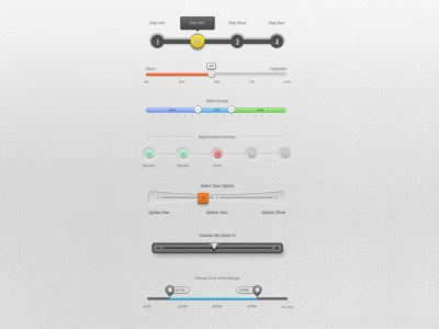 UI Sliders ui sliders gui interface mobile app design steps process