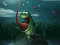 The frog who ate the moon details