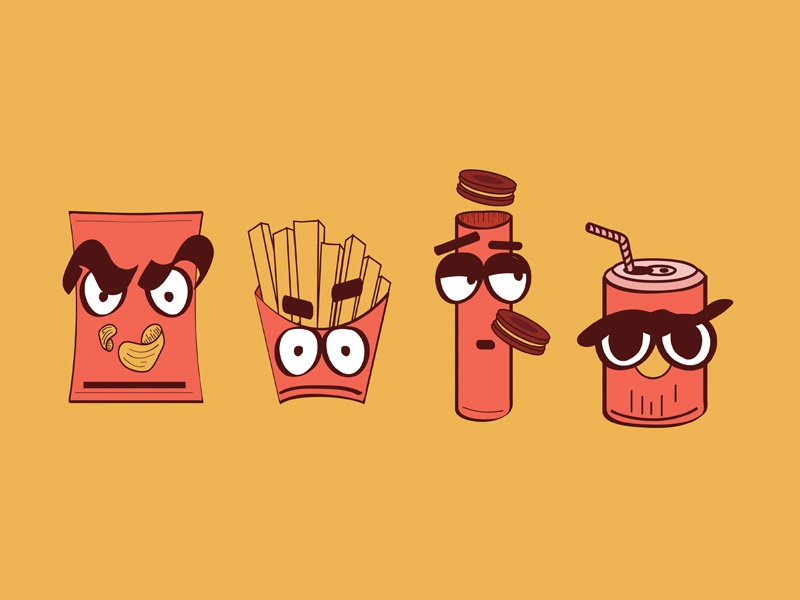 Junk food icons icons illustration