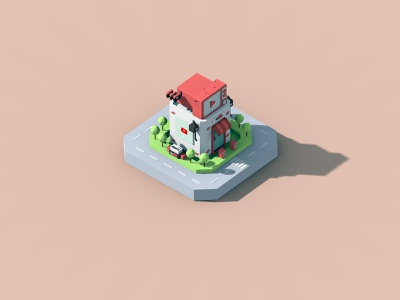 small house 3d small house