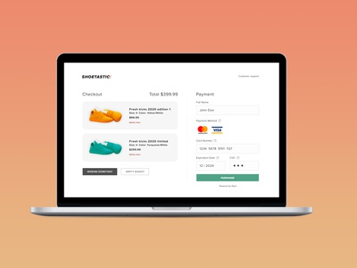 Daily UI #002: Credit Card Checkout minimal web design ui dailyui