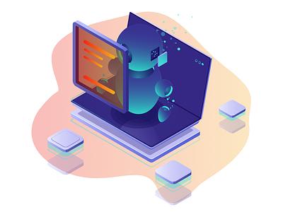 Website UI Element minimal website icon branding ui design illustration