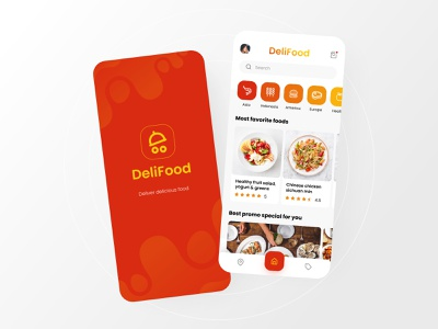 Food Delivery Mobile App red easy simple design hungry simple food delivery app food delivery delivery app delivery food mobile ui app ui app design ux design ui design mobile app design ux ui