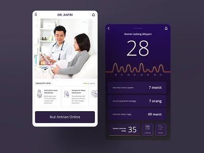 Dr. Antri uiux mobile ui mobile app design app ui online ux design ui design pregnant pregnancy maternal healthy queue doctor app ux ui design