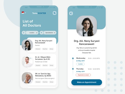 Temu Dokter uiux mobile ui mobile ux design ui design clinic hospital appointment schedule healthy doctor app ui app design app ux ui design