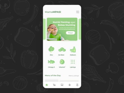 MamaMPASI healthy milk lactose nutrients baby meal food mama mobile ui ux design ui design mobile app ui app app design ux design ui