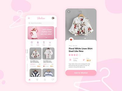 Shalova dress cloth style fashion mobile ux design ui design app design ux ui