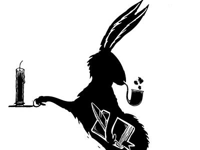 Hutchmoot Rabbit rabbit hutch moot rabbit room illustration scratchboard