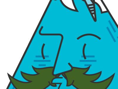 Mr. Mountain Man mr. mountain man folklore everest aspen andes cartoon illustration vector blue ridge mountains character design