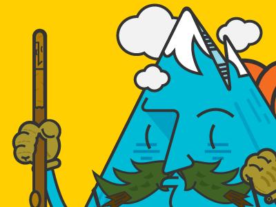 Mr. Mountain Man (Final) hiking character design rei cartoon camping mountain man illustration vector aspen