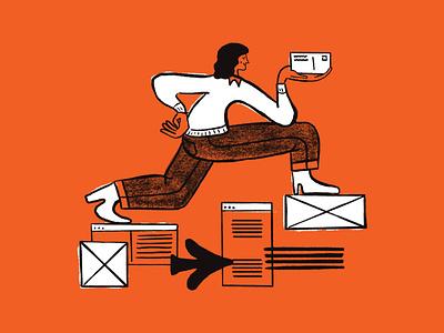 Mailchimp Postcard Marketing branding design illustration