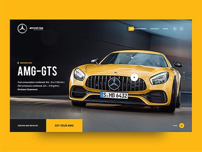 Mercedes Benz AMG Redesign redesign amg benz mercedes car website web design modern ux ui