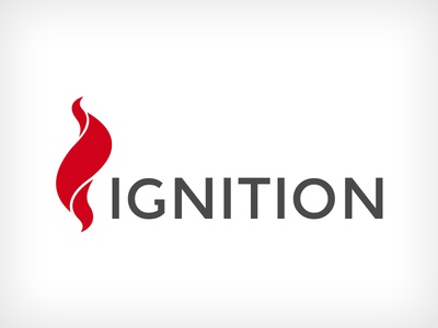 Ignition Logo concept simple red ignition non profit clean branding logo